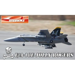 F-A 18E 64 mm Jolly Roger RC straaljager EDF PNP