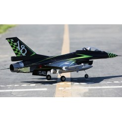 F16 64 mm RC straaljager Vectored RTF 2.4Ghz (groen, zwart)