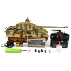 Taigen handgeschilderd 1:16 Full Metal RC tank King Tiger 2.4Ghz