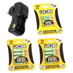 1 AA/AAA batterij lader & 8 AA 1300mAh laadbare batterijen & 4 AAA 1000mAh laadbare batterijen