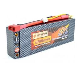 7.4V 5200mAh 50C Hard Case LiPo batterij met Deans Connector