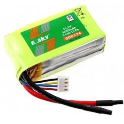 LiPo batterij 11.1V 1250mAh 10C 2x3.5x6.5