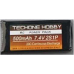LiPo batterij 7.4V 500mAh 25C Battery Pack 56x9x30